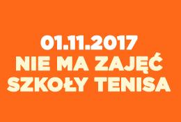 Zajęcia 1.11.2017 nie odbędą się